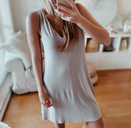 Soft Grey Midi Dress