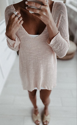 Soft Coral Knit Sweater