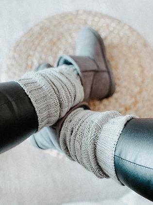 Cosy Grey Braided Socks/Gloves