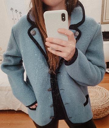Navy Pure Wool Coat