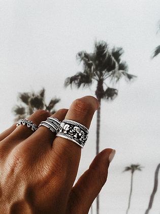 Elephants 925 Sterling Silver Ring