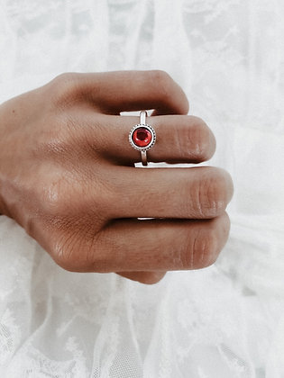 Little Stone 925 Sterling Silver Ring