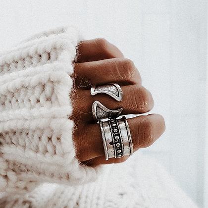 Ethnic Silver Ring Set