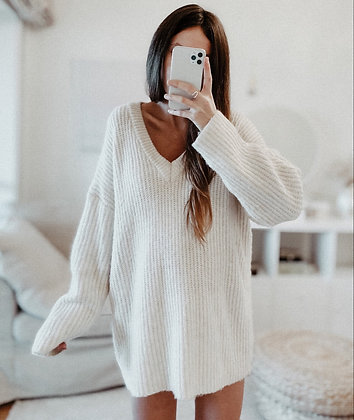 Pearl Soft Knit Oversize Sweater