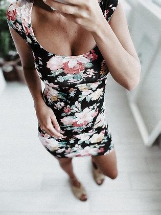 Black Roses Mini Dress