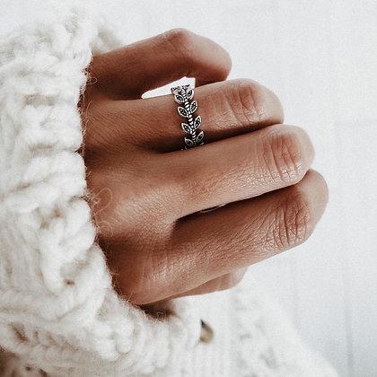 Flower Crown 925 Silver Ring