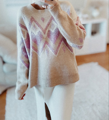 Soft Nude Knit Sweater