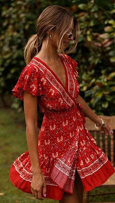 Burning Spear Red Dress