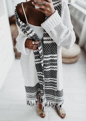 Fringes Knit Cardigan