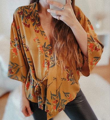 Earth Colours Kimono Blouse