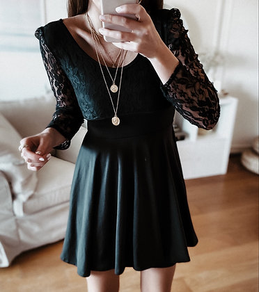 Lace Spiritual Black Dress