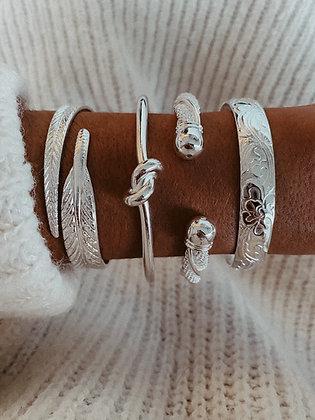 Large Knot 925 Sterling Silver Bracelet