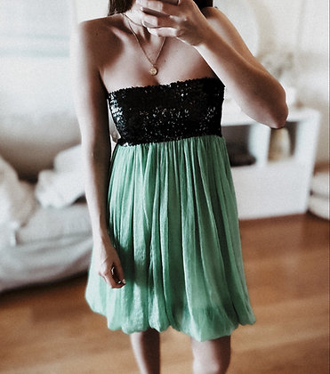 Sequins Satin Dress