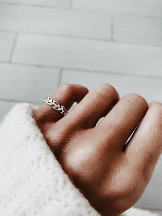 Minimal Leaves 925 Sterling Silver Ring