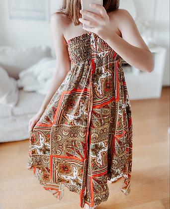 Gypsy Satin Assymetric Dress