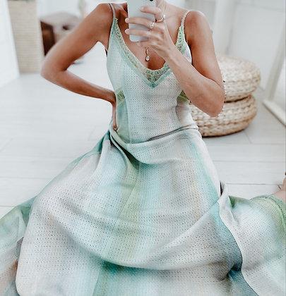 Tie Dye Sky Lace Dress