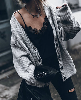 Satin Lace Black Top