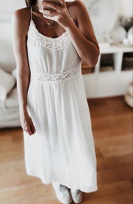 White Love Flowing Dress