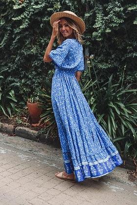 Ocean Blue Maxi Dress