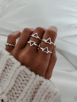 Triangle 925 Silver Ring