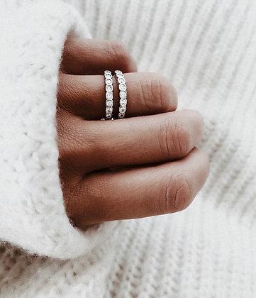 Minimal Zirconia 925 Sterling Silver Ring