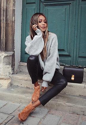Knit Grey Oversized Sweater