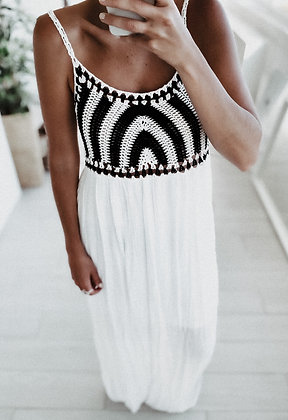 Crochet Black&White Dress