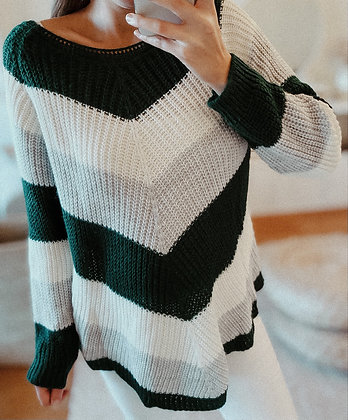 Triangle Colored Knit Sweater