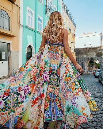 Dancer Flowers Maxi Dress