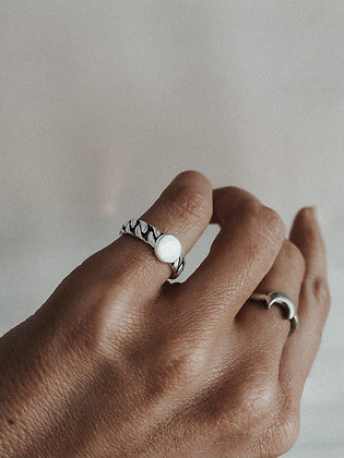 925 Real Silver Coin Ring