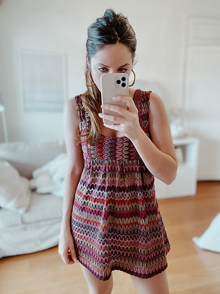 Crochet Silver Tunic Dress