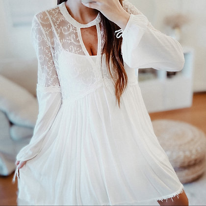 White Princess Lace Dress