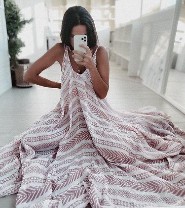 Pocahontas Nude Maxi Dress