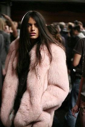 Nude Fur Coat