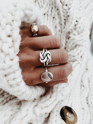 Perfect Knot 925 Silver Ring