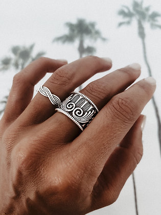 Tribal 925 Sterling Silver Ring