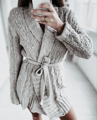 Knit Grey Cardigan