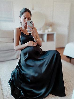 Satin Lose Maxi Dress