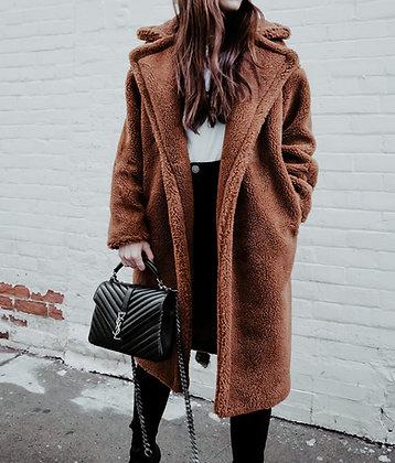 Brown Teddy Fur Coat