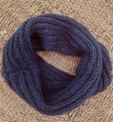 Night Blue Knit Scarf