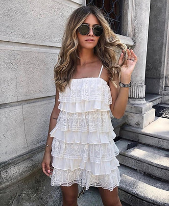 Angel Ruffle Mini Dress