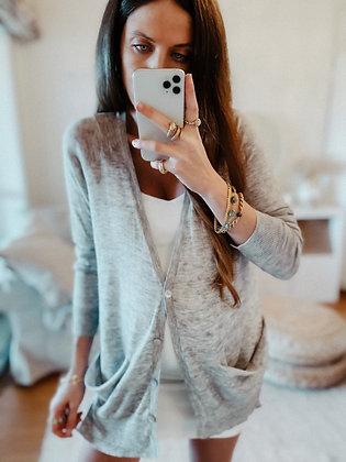 Light Grey Knit Cardigan