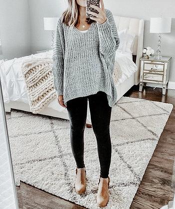 Knit Oversized Grey Sweater