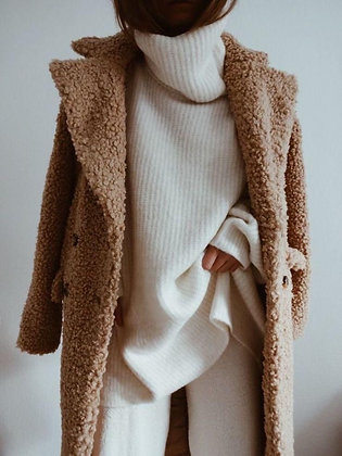 Oversized White Knit Sweater