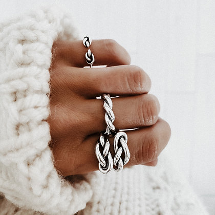 Double Knot 925 Silver Ring