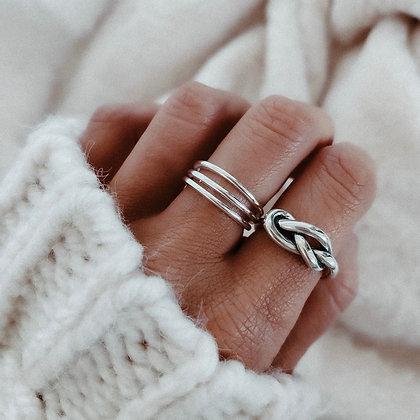 3 Strings 925 Silver Ring