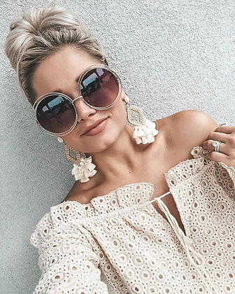 Vintage Golden Sunglasses