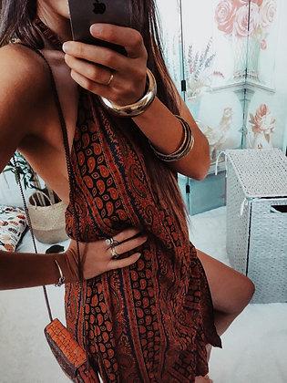 Savana Backless Patterned Dress