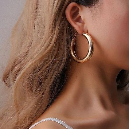 Golden Light Hoop Earrings