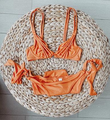 Orange Straps Bikini